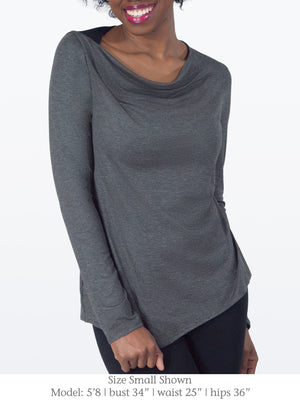 ALMA – Long Sleeve Top with Back Cutout