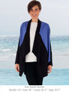 LENA - Elegant Color-Blocked Jacket (Black/Harbor Blue)