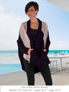 LENA - Elegant Color-Blocked Jacket (Black/Taupe)
