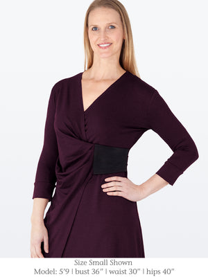 WAVERLY - Eco-Friendly Dress with 3/4 Sleeves