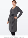 LESLIE - Softly Sculpted Cardigan (Charcoal)