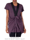 DEENA - FUN, SPORTY ECO-FRIENDLY TUNIC (PLUM)