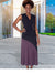 Inventory Sale: FAIT-Eco-Friendly Modal Skirt (Black/Plum)