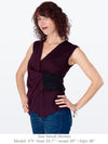 FAYA – Beautifully Sculpted Eco-Friendly Top (Magenta)