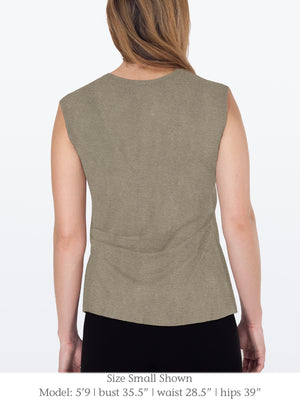 FAYA – Eco-Friendly Top with 3/4 Sleeves
