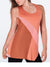 Inventory Sale: LESA – Playful Sporty Top (Coral, Black & Taupe)
