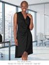 GLYNDON - Elegant Structured Dress - Great for Office! (Chestnut)