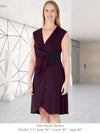 GLYNDON - Eco-Friendly Non-Maternity / Maternity Dress for Work (Chestnut)