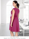 GLYNDON - Eco-Friendly Non-Maternity / Maternity Dress for Work (Burgundy)