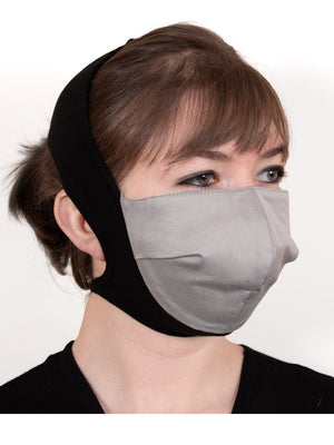 Fashionable High Thread Count Cotton Headband Masks (5 colorways)