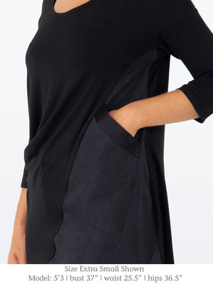 HARBOUR – Jersey + Tencel Tunic with Cap Sleeves