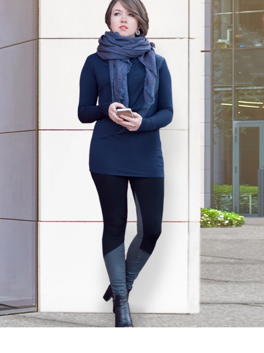 Inventory Sale: JUNO – Extra Long Eco-Friendly Leggings (Black & Burgundy)