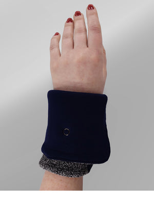 Carey - Stylish Fingerless Gloves  (Gray)
