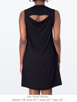 ROSE – Draped Asymmetric Dress with Cutout Back