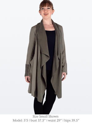 TRISTAM -  Eco-Friendly Jacket with Shawl Collar (Sage)