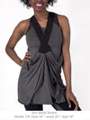 DIANA - BEAUTIFULLY DRAPED TUNIC (BLACK)