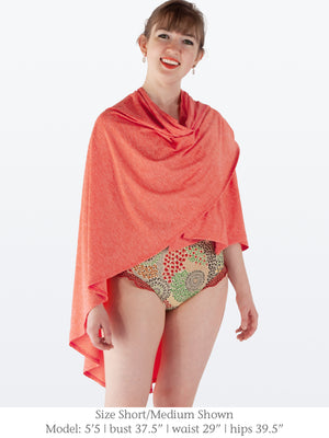CAROLINE - Stylish UPF50 Sun Protection Swim Sarong / Cover-Up / Shawl