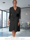 WAVERLY - Eco-Friendly Faux Wrap Non-Maternity / Maternity Dress for Work (Chestnut)