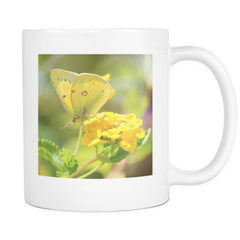 ceramic yellow butterfly mug