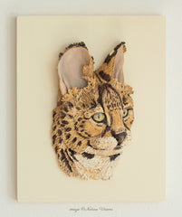 Serval sculpture African wildlife art