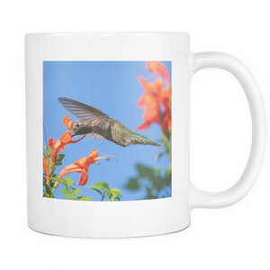 11 oz Hummingbird Coffee Mugs, Bird Lover Gifts, Ceramic Coffee or Tea Cup