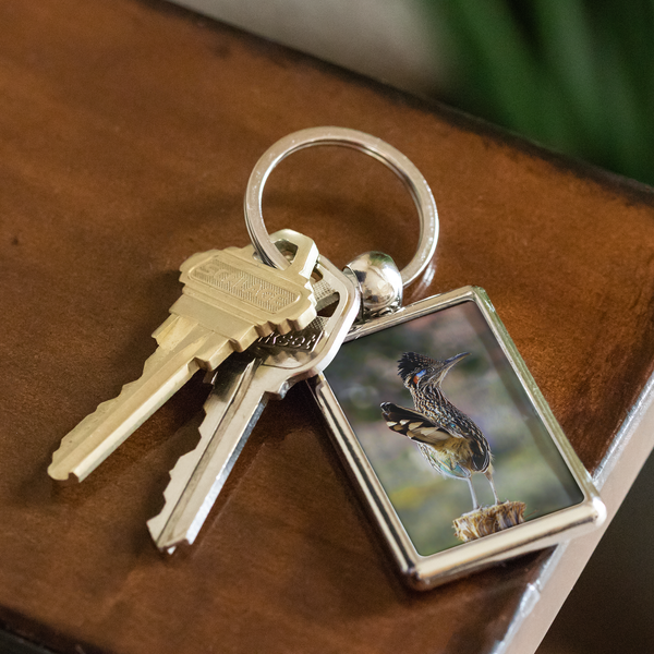 Greater Roadrunner Photo Keychain, Bird Watcher Gifts
