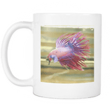Crowntail Betta Siamese Fighting Fish Coffee Cup