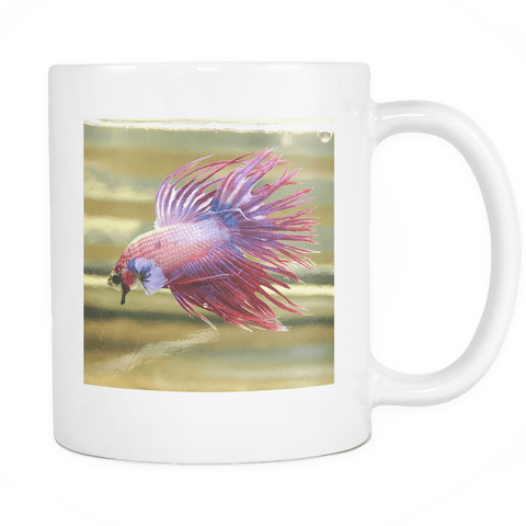Crowntail Betta Fish Mug