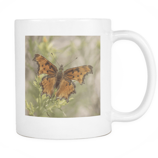 Brown Butterfly Ceramic Coffee Mug