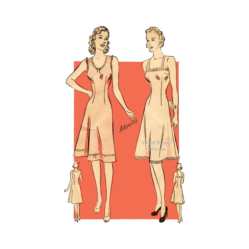 1940s Vintage Slip Pattern, Advance 2567
