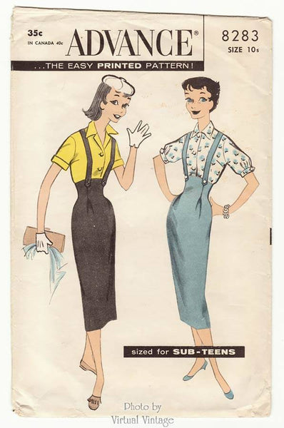 Advance 8283 suspender skirt pattern
