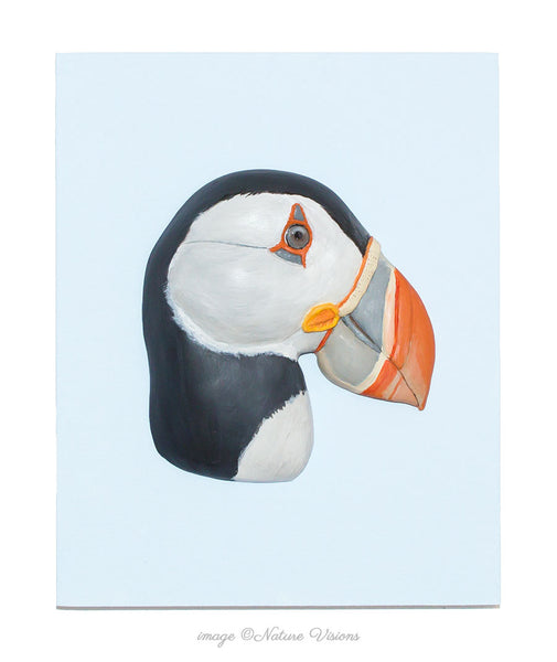 Atlantic Puffin Wall Art, Polymer Clay Bird Sculpture Wall Hanging
