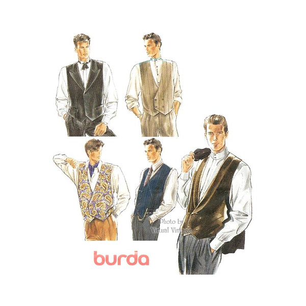Mens Dress Vest Pattern, Burda 5278