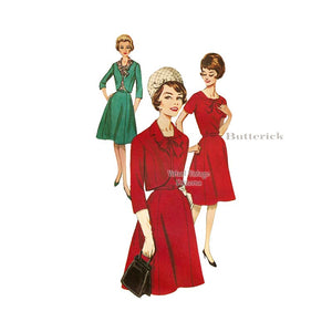 60s Dress & Jacket Pattern, Butterick 2385
