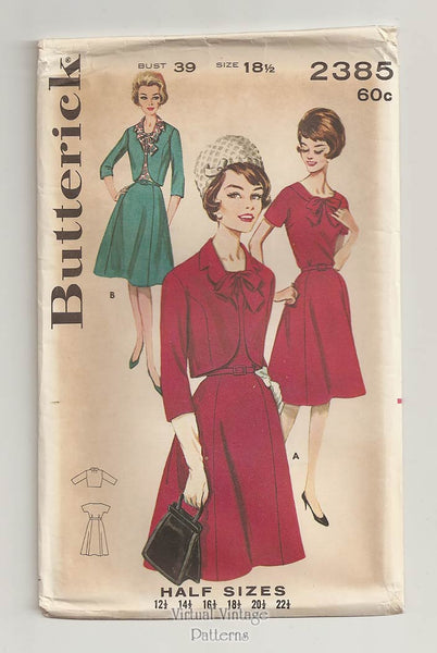 Butterick 2385, 60s Dress & Jacket Pattern