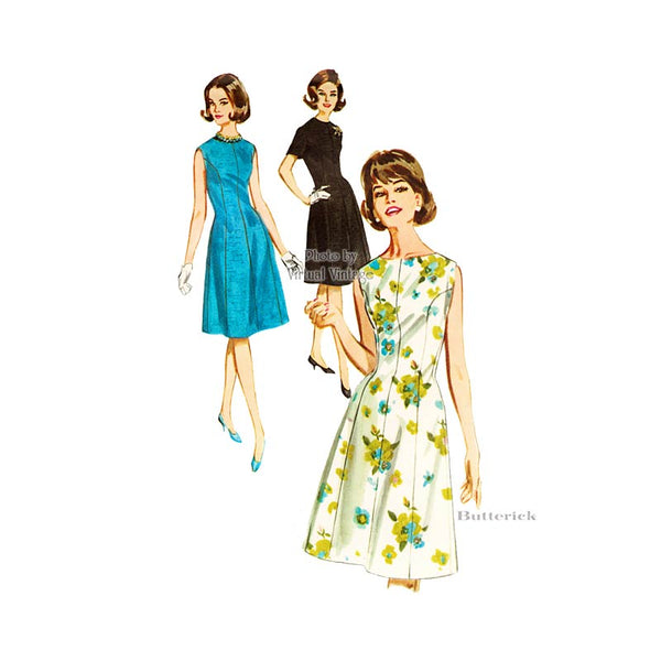 Vintage Princess Seam Dress Pattern Butterick 2664