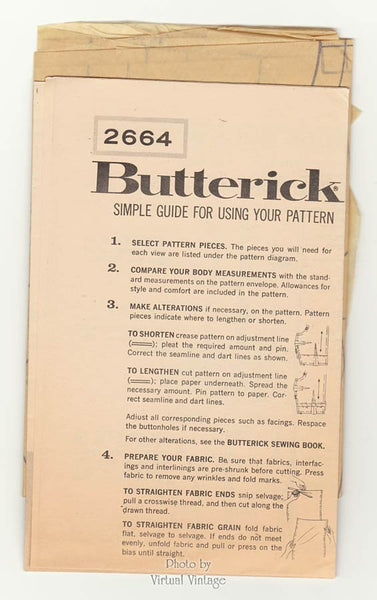 Butterick 2664, 1960s dress pattern
