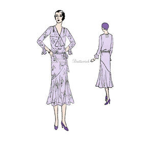 1920s Day Dress Pattern Butterick 3170