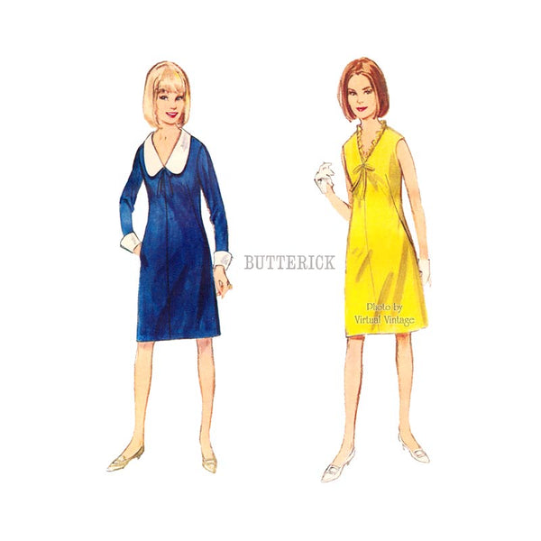 60s Easy A Line Dress Pattern Butterick 3647