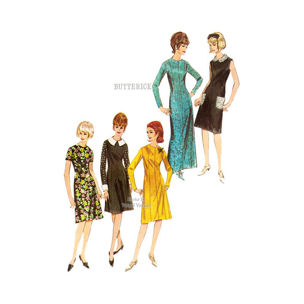 Easy A Line Dress Pattern, Butterick 3736