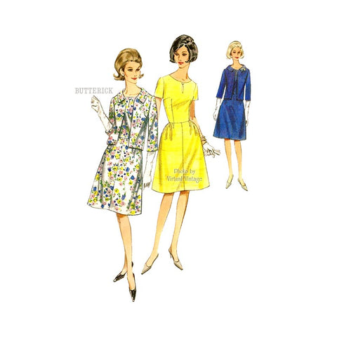 1960s Jacket & Dress Pattern, Butterick 3998