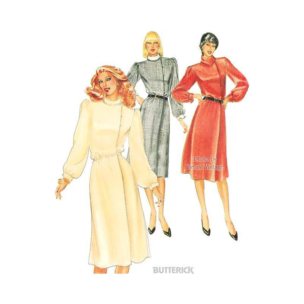 1980s Blouson Dress Pattern, Butterick 4040