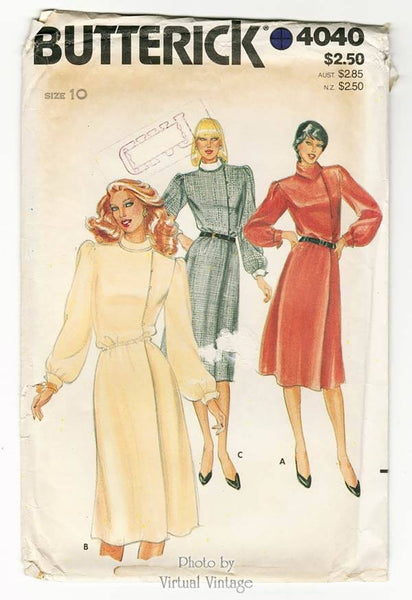 Butterick 4040, 1980s Blouson Dress Pattern