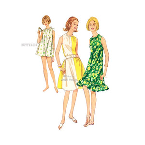 Easy Beach Cover Up Dress Pattern, Butterick 4056