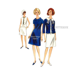 60s Jacket, Blouse, Skirt & Dress Patterns, Butterick 4080