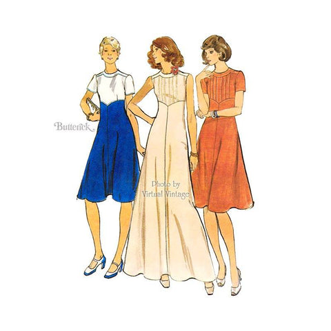 Butterick 4180 1970s dress pattern