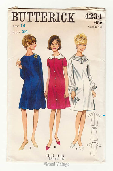 Butterick 4234, 60s Scalloped Dress Pattern