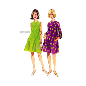 1960s Tent Dress Pattern, Butterick 4239