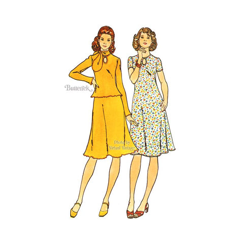 Stretch Knit Dress Pattern Butterick 4338