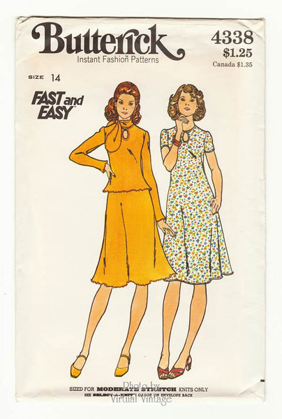 Butterick 4338, Stretch Knit Dress Pattern